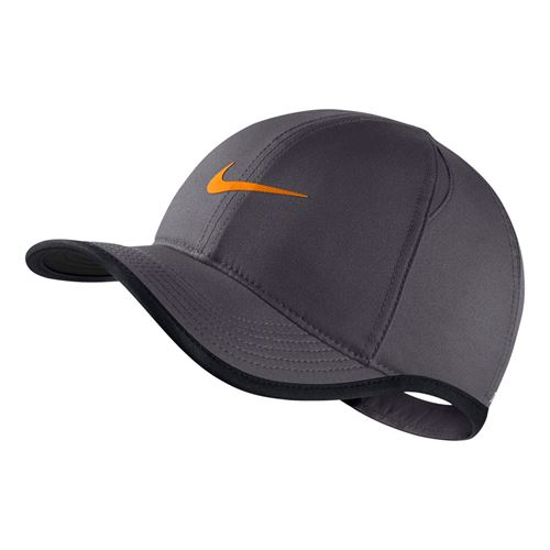 2c840222c0000 Nike Kids Aerobill Featherlight Hat - Dark Grey/Black/Orange Peel