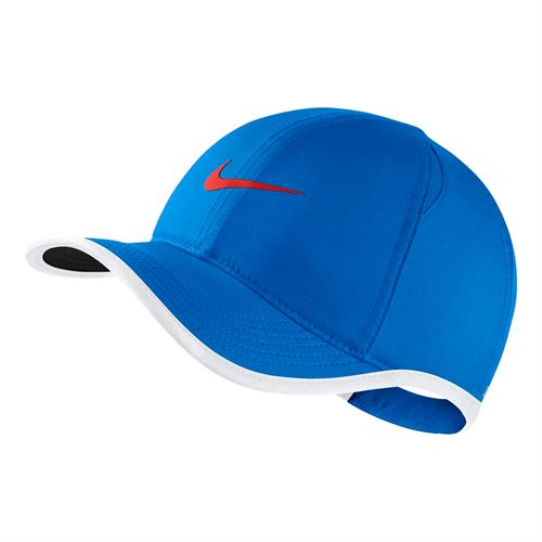 6f0931a252b2e Nike Kids Aerobill Featherlight Hat - Photo Blue White Habanero Red
