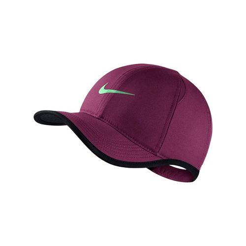 Nike Kids Aerobill Featherlight Hat - Bordeaux/Aphid Green