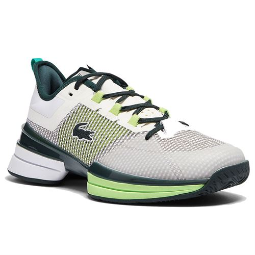 Lacoste AG LT 21 Ultra Womens Tennis Shoe White/Black/Green 741SFA0094 082