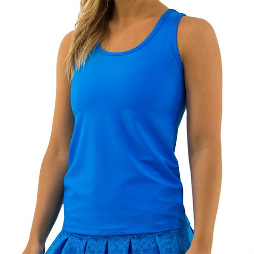 BPassionit Coming Up Daisies Cut Out Tank Womens Brite Turquoise 800712 BTU
