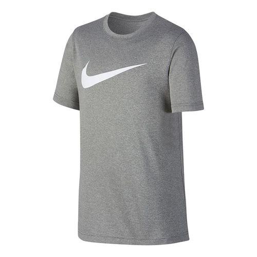 Nike Boys Dry Training Crew - Dark Grey Heather/White