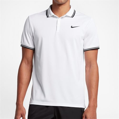 Nike Court Dry Solid Polo - White