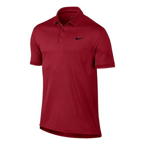 Nike Court Dry Team Polo - Gym Red/Black