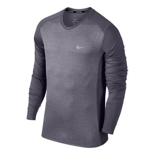 Nike Miler Long Sleeve Crew - Gridiron Heather