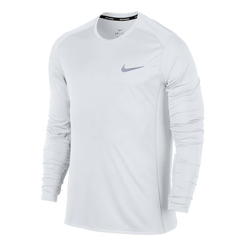 218e2f87 Nike Miler Long Sleeve, 833593 100 | Men's Tennis Apparel