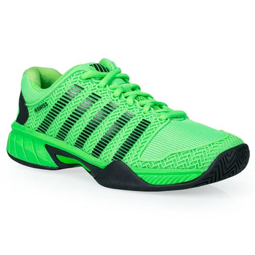 K Swiss Hypercourt Express Junior Tennis Shoe - Neon Lime/Black