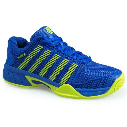 K Swiss Hypercourt Express Junior Tennis Shoe - Strong Blue/ Neon Citron 83377 445 M