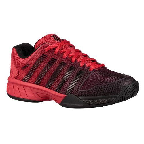 K Swiss Hypercourt Express Junior Tennis Shoe - Lollipop Red/Black
