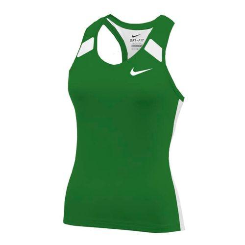 Nike Power Tank - Dark Green/White