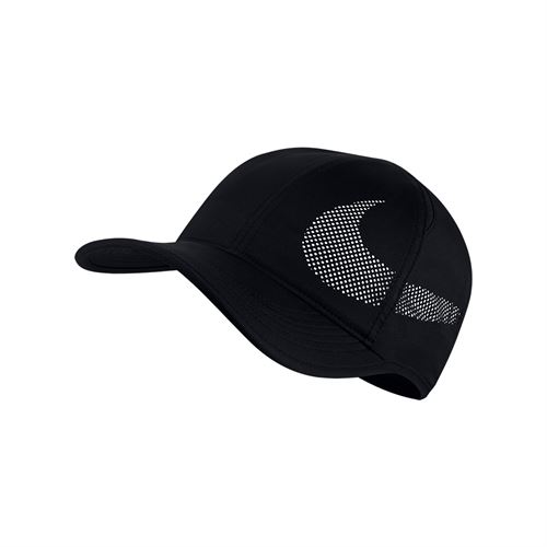 Nike Mens Court AeroBill Featherlight Tennis Hat - Black/White