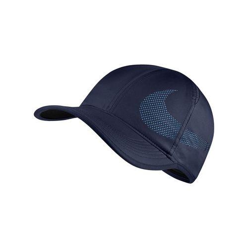 Nike Court Aerobill Featherlight Hat - Black Blue/Military Blue