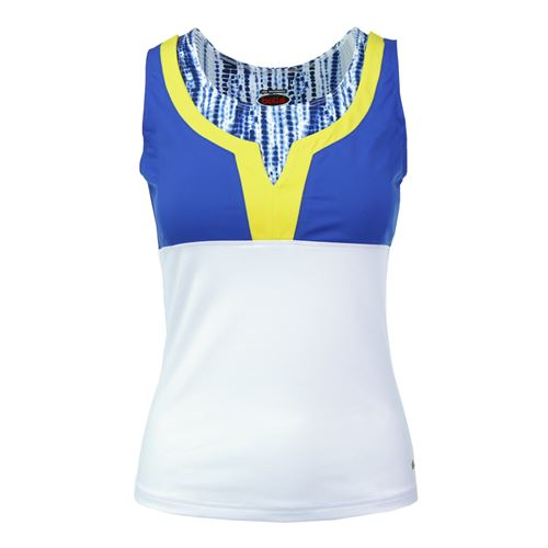 Bolle Sapphire Layered Tank - White/Cobalt