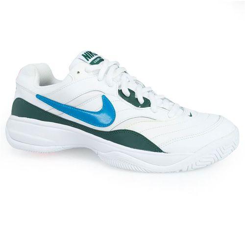 Nike Court Lite Mens Tennis Shoe - White/Neo Turquoise/Blue Force/Hyper Crimson