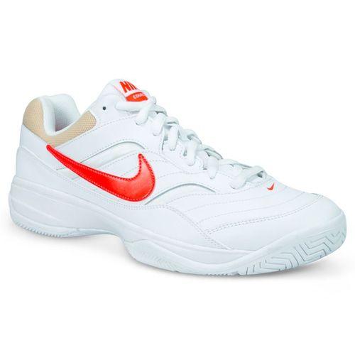 3ba55bd8e3448 Nike Court Lite Mens Tennis Shoe - White Bright Crimson Bio Beige