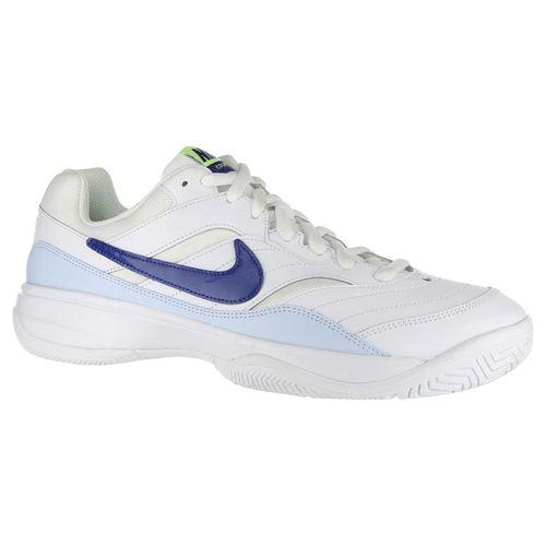 Nike Court Lite Mens Tennis Shoe - White Indigo Force Half Blue Volt 9fdc01b8b6a