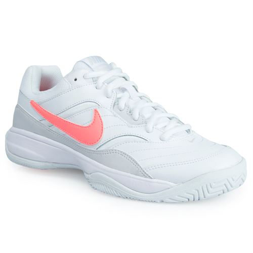 Nike Court Lite Womens Tennis Shoe - White Lava Glow Grey 66833a0b46b