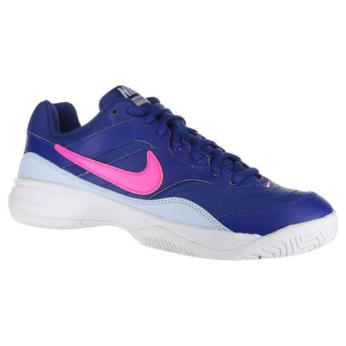 Nike Court Lite Womens Tennis Shoe - Indigo Force/Pink Blast/Half Blue/White