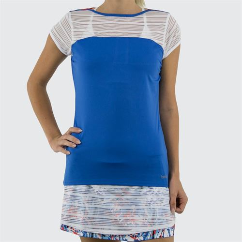 Bolle Maritime Blues Cap Sleeve Top Womens Cobalt Blue 8455 28 4789