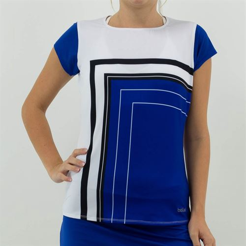 Bolle News Flash Cap Sleeve Top Womens Blueberry 8474 28 4558