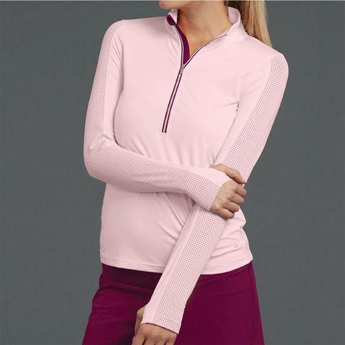 Bolle A Cut Above 1/2 Zip Long Sleeve Top Womens Blush 8481 28 7442
