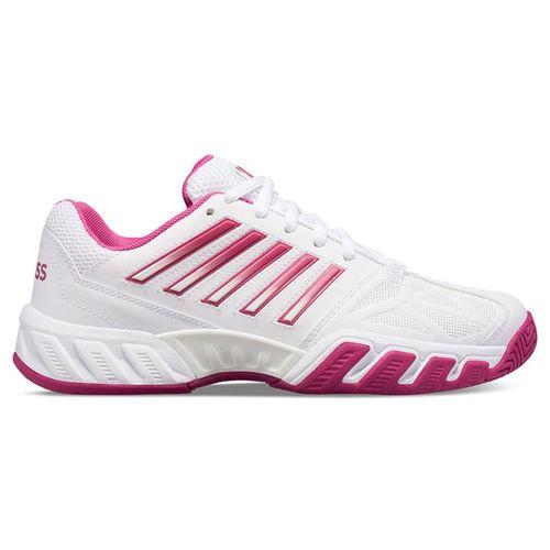 K Swiss Bigshot Light 3 Junior Tennis Shoe White/Cactus Flower 85366 126