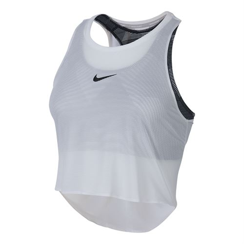 Nike Court Mesh Tank - White