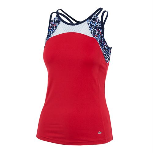 Bolle Palermo Strappy Tank - Bolle Red/Iris Print