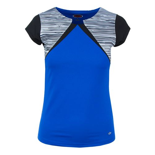 Bolle Picasso Cap Sleeve Top - Royal
