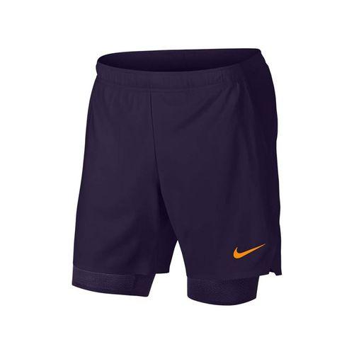 7b72a8aab7f8 Nike Court Flex Ace Short - Blackened Blue Orange Peel