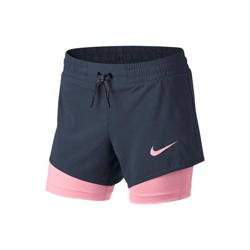 Nike Girls Training Short - Thunder Blue/Pink