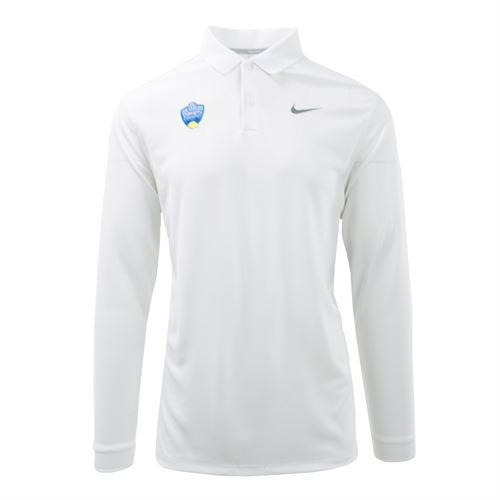 Nike Western & Southern Open Victory Mens Long Sleeve Polo - White