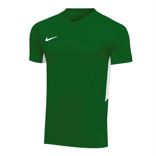 Nike Dry Tiempo Premier Short Sleeve Jersey - Pine Green/White