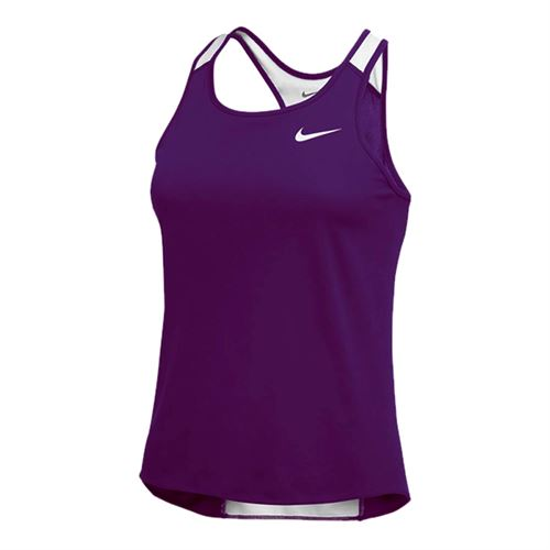 Nike Breathe Singlet Tank - Purple/White
