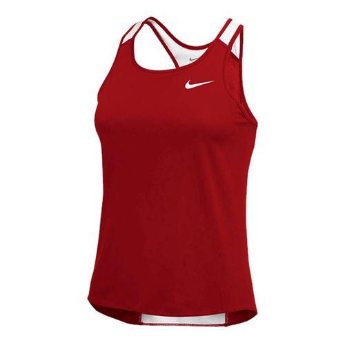 Nike Breathe Singlet Tank - Cardinal/White