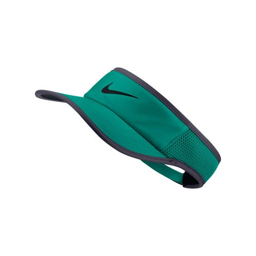 Nike Court Aerobill Featherlight Visor - Pure Neptune Green/Gridiron
