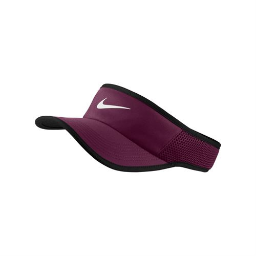 2c9b7969587 Nike Court Aerobill Featherlight Visor - Bordeaux Black White