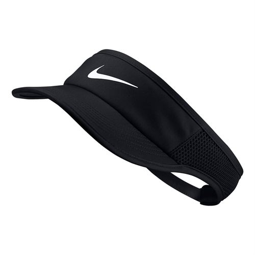 Nike Womens Aerobill Feather Light Visor - Black