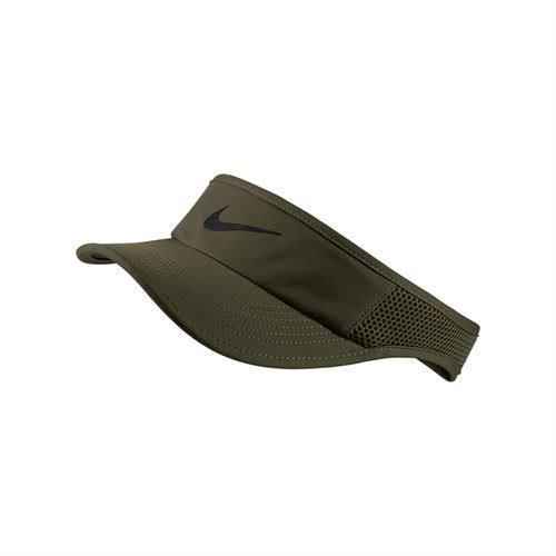 Nike Womens Court Aerobill Visor - Olive Canvas/Black