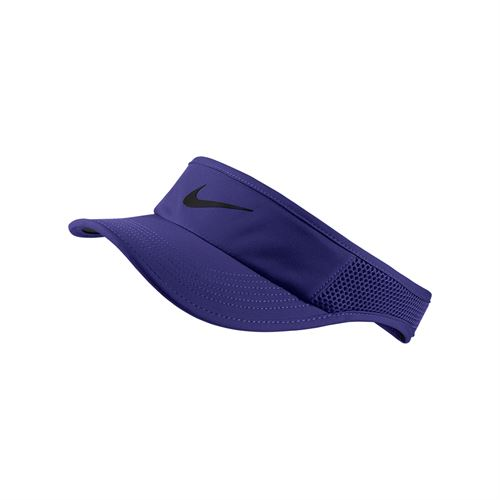 Nike Womens Court Aerobill Visor - Regency Purple/Black