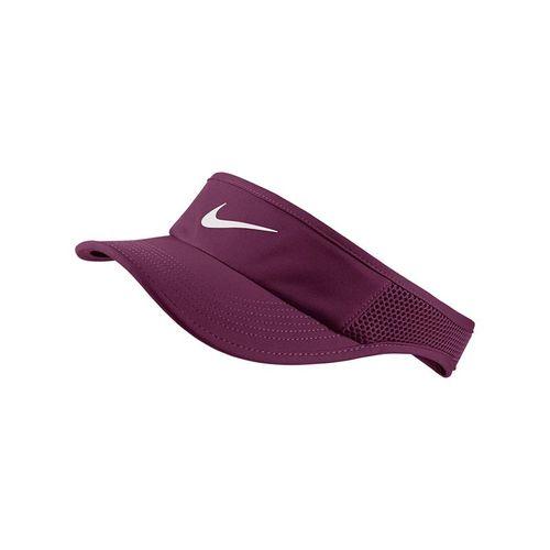 Nike Womens Court Aerobill Visor - Bordeaux/White