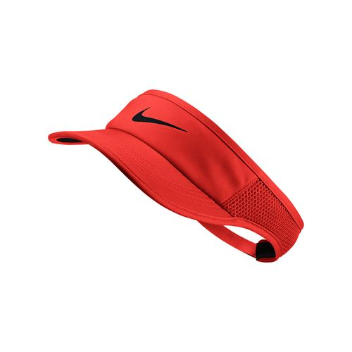 Nike Womens Court Aerobill Visor - Habanero Red/Black