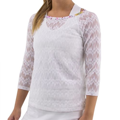 BPassionit Coming Up Daisies Plunge Top Womens White/Daisies Print 90108L WDP