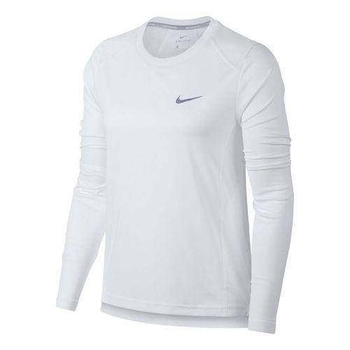 Nike Dry Miler Long Sleeve Top - White 232239cc0