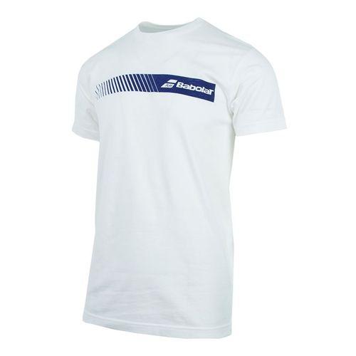 Babolat Stripe Logo Tee - White