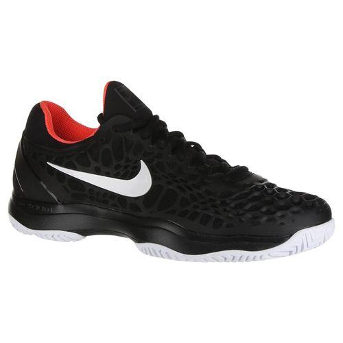 Nike Zoom Cage 3 Clay Mens Tennis Shoe - Black/White/Bright Crimson