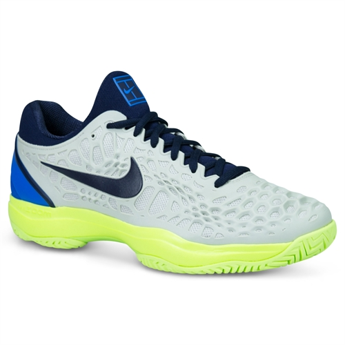 the latest 42383 cf07a Nike Zoom Cage 3 Mens Tennis Shoe - Vast Grey Blackened Blue Signal Blue
