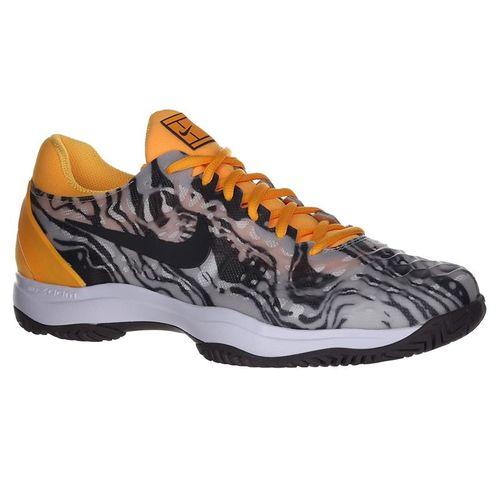 Nike Zoom Cage 3 Mens Tennis Shoe - Pure Platinum/Thunder Grey/Laser Orange