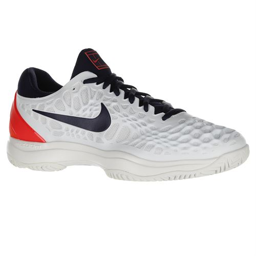 buy online 18d6a b984b Nike Zoom Cage 3 Mens Tennis Shoe - White Black Blue Crimson
