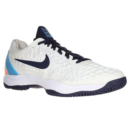 6023b4d831a4 Nike Zoom Cage 3 Mens Tennis Shoe - White Obsidian Light Carbon Light